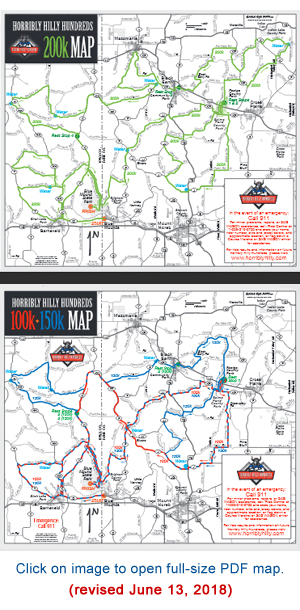 Horribly Hilly Hundreds Course Map